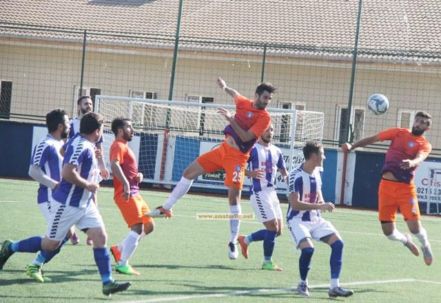 Tayfun bir devre esti maçı Sahilspor kazandı